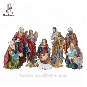 High Quality Polyresin Religious Christmas Outdoor Nativity Sets Wholesale