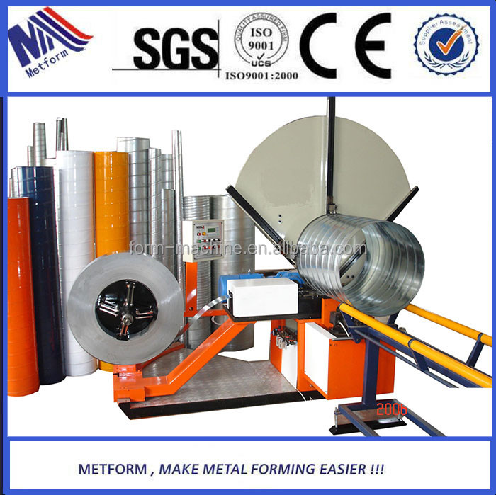 Round Hvac Duct Making Machine, aluminum Sheet Metal Air Pipe ducting forming machines