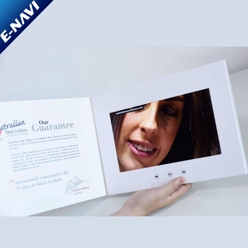 LCD Brochure A5 Customize Design Video Brochure Card