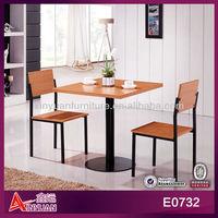 E0732 Wholesale cheap metal italian furniture dining set