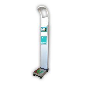 Digital Computer Screen Coin Operated Ultrasonic Human Body Height And Weight Scale