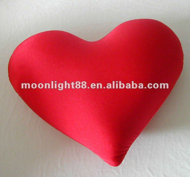 Heart shaped microbeads stuffing sofa and seat cushion