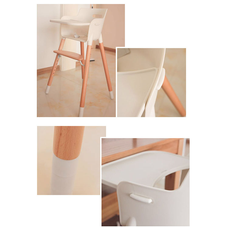 Wholesale multi-function wooden baby high chair 2018 new gift high baby chair feeding