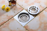 Chrome Brass Shower Drain washing machine drainer bathroom accessory floor drain FD-1013