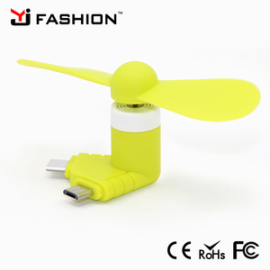 Fashion mini USB 4 in 1 cool summer portable small rechargeable ceiling fan with phone battery protection Ic
