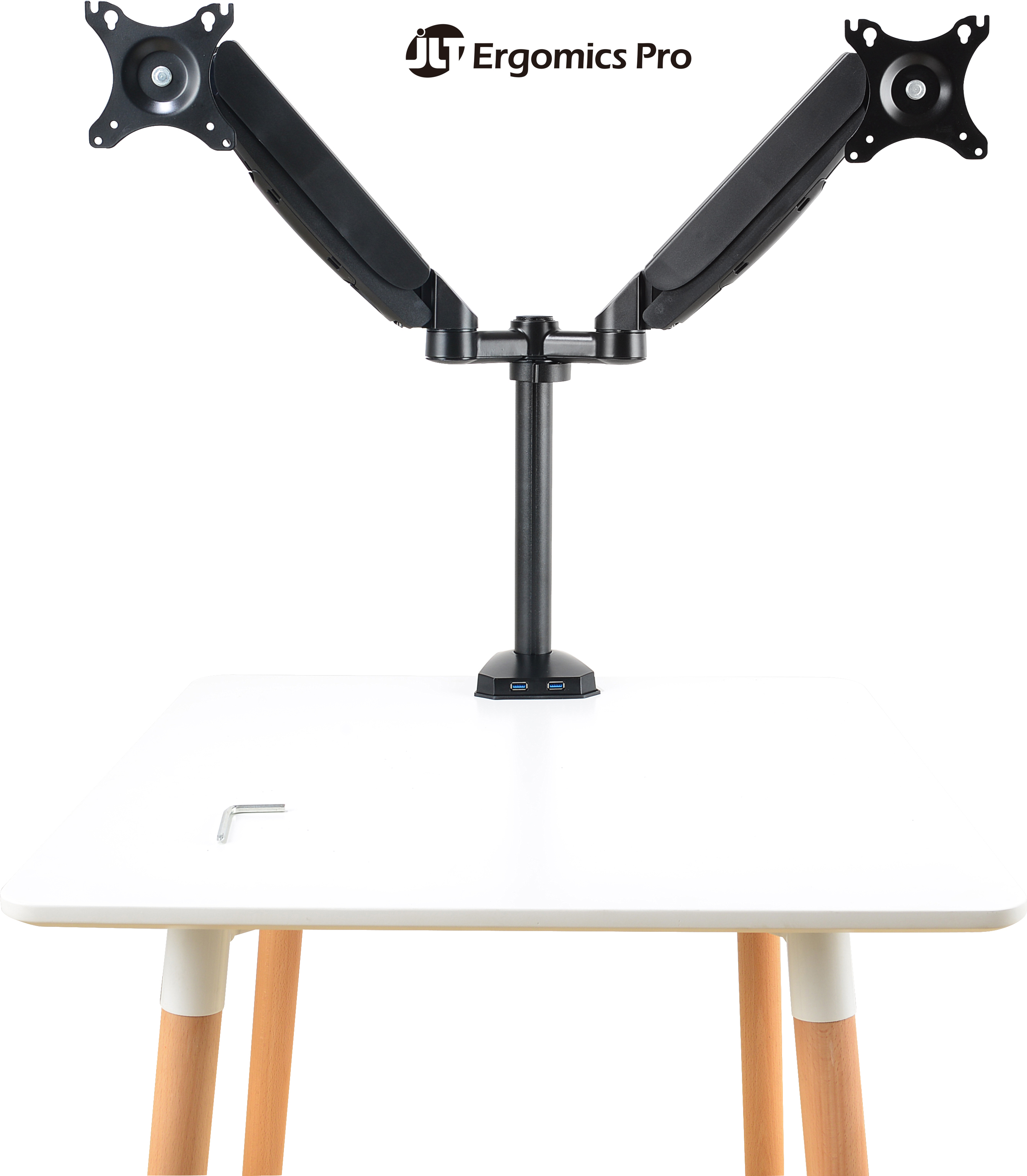 Monitor Arm - Full-Motion Spring Dual-Adjustable