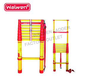 2m 3m 4m 5m single or double side telescopic FRP 3m ladder with 9 steps