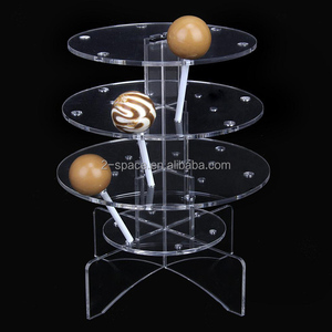 3 Floors Luxury Acrylic Cake Pop Lollipop Display Cupcake Stand Tower Holder