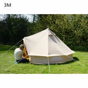 3M Luxury Outdoor Waterproof 4 Season Family Camping Winter Glamping Cotton Canvas Yurt Bell Tent