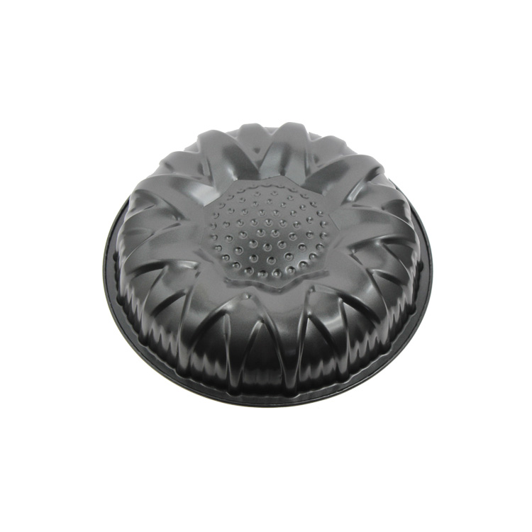 Flower Shape Round Cast Iron Non Stick Microwave Oven Cake Pan