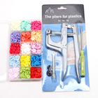Hot Sale Box Packing 150Sets With Metal Press Pliers Tools Colorful T5 12MM Press Plastic Snap Buttons