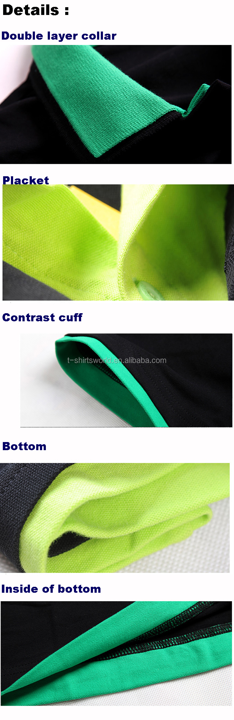 cba8403e1d7 Custom Made New Design of Men s Two Layer Collar Polyester Bowling Polo  Shirt With Full Sleeve