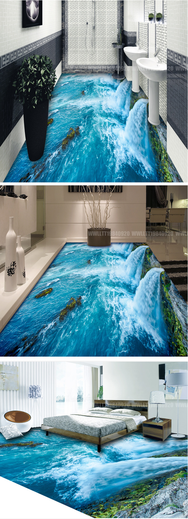 floor 3d for digital print 3d picture bathroom wall and