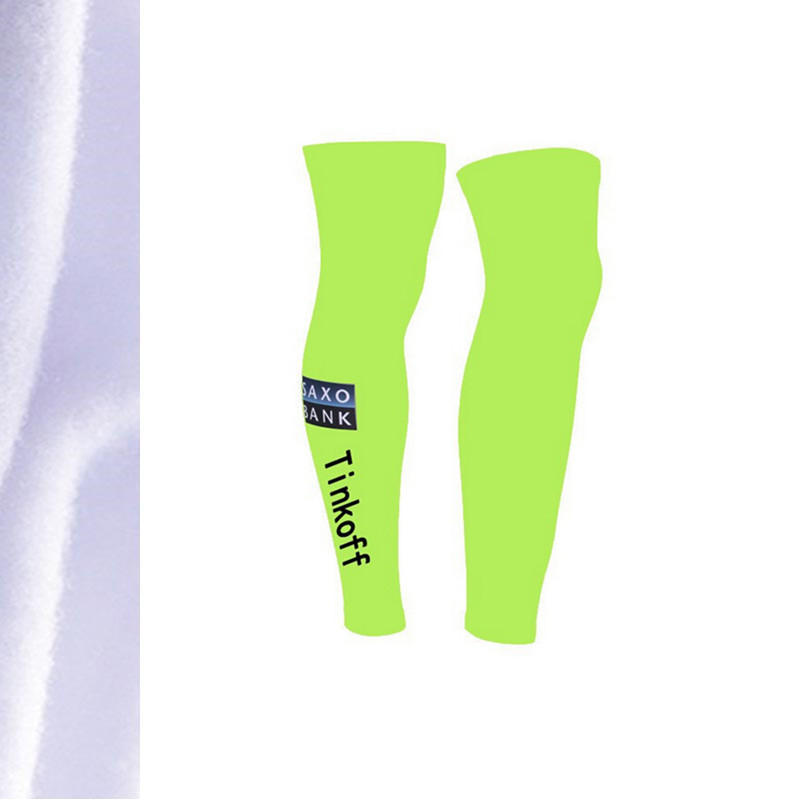 Tinkoff SAXO BANK green 2015 leg sleeves winter thermal fleece cycling leg warmer tight popular leg sleeve cycling wearing