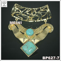 2013 fashion jewelry scarf findings pendant with turquoise stone