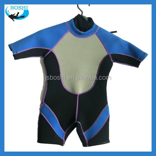 Children 3mm Neoprene surf suit without sleeves 2 pieces diving wetsuit