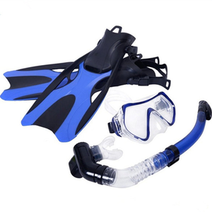 Scuba Diving Snorkeling Freediving Mask Snorkel Set , Tempered Glass Diving Mask and Full Dry Snorkel