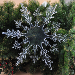 "Christmas decor 18"" transparent snowflakes hanging xmas ornament"