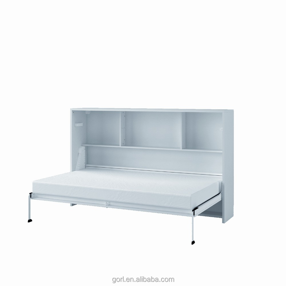 Horizontal Folding Single Wall Bed Murphy Bed with Bookcase CF094-CF124