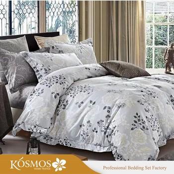 4 Piece Home Goods Bedding Set Printed Polyester Queen Size Duvet