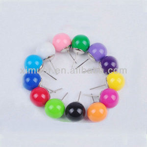 Cheap colorful bead earring stud ,cute anime earring