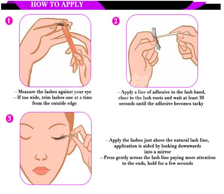 50687153af6 Crisscross Lashes High Quality Natural Mink Eyelashes Elle Wink Eyelash