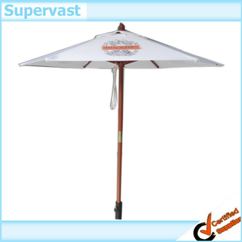 Wooden Pole Beach Umbrella