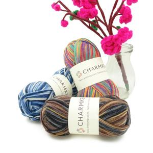 elastic knitting yarn for socks with fresh colors in cheap price