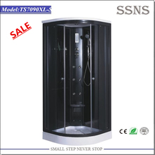 Hot sale simple black bath room plastic outdoor steam room