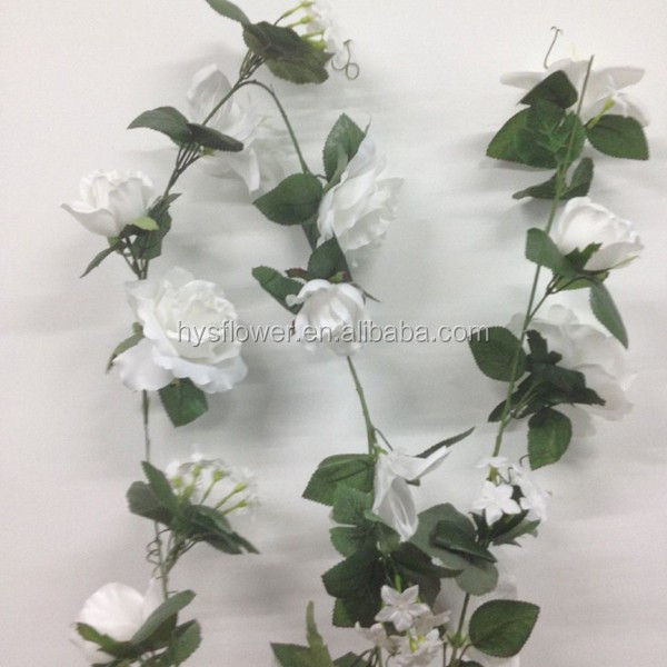 artificial flower vine rose/lily garland