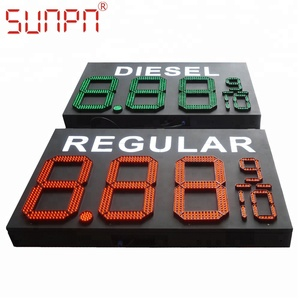 led gas station/fuel/diesel price system board/sign 8.889 numeric changer