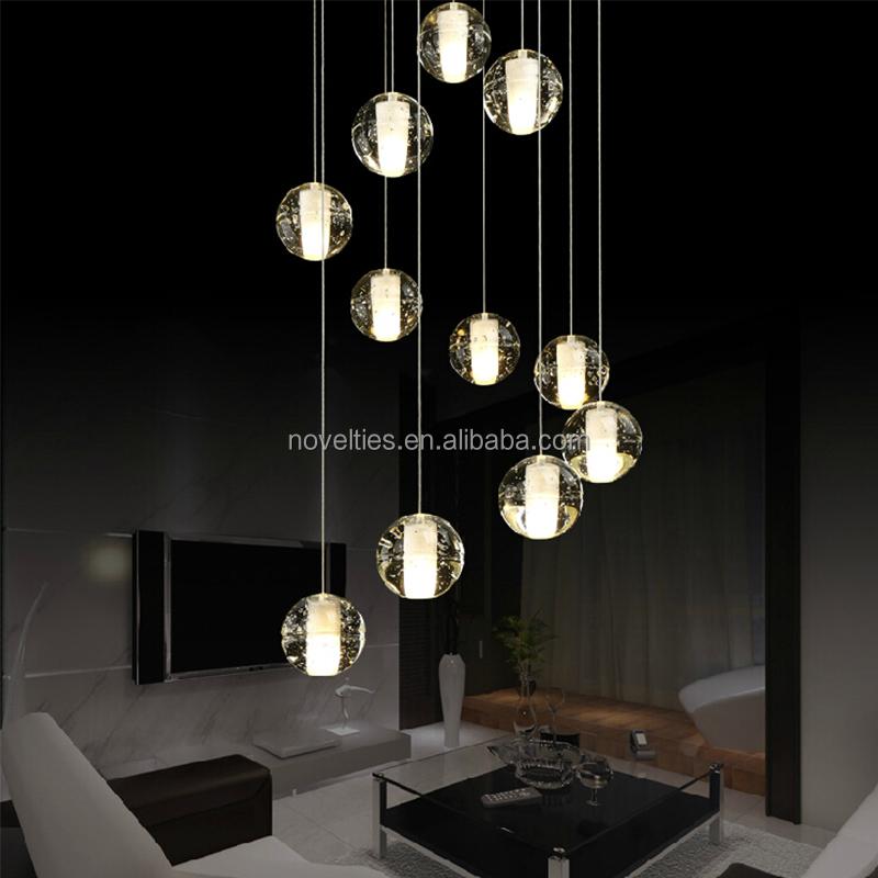 Crystal Ball Chandelier Light Modern Led Pendant Lighting ...
