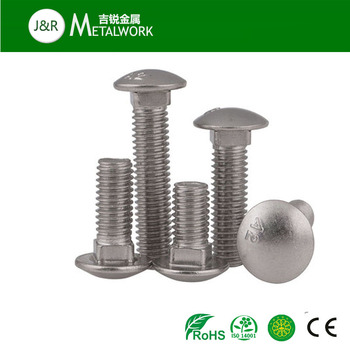 M10 M12 A2 A4 stainless steel SS304 SS316 cup bolt DIN603