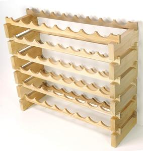 18-Bottle Stackable Natural Bamboo Wine Display and Storage Rack
