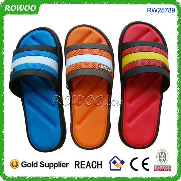 be5684e8e531cc PVC Sandal Slipper Silver PU Shower Beach Shoe Slip On Slipper. eva slipper  wholesale