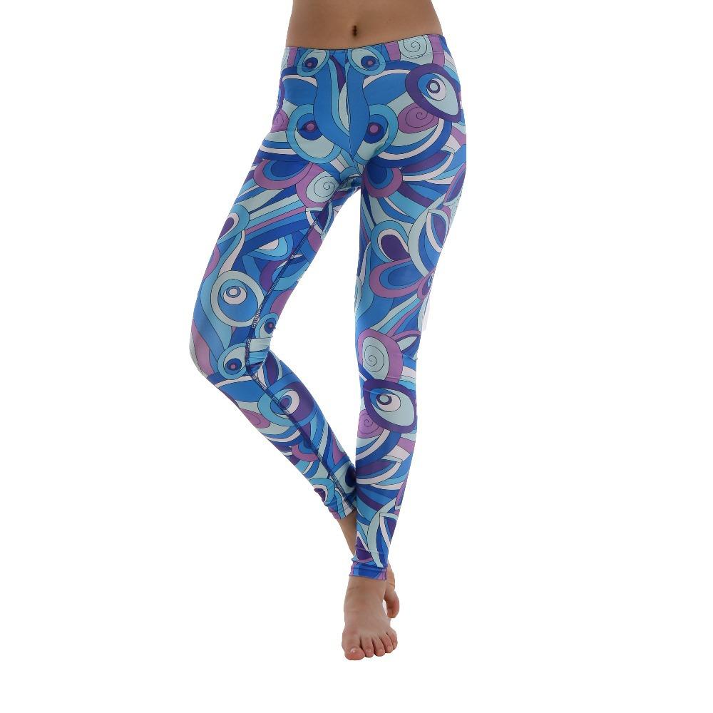 2016 Women American Football Pattern 3d Leggings Stretch: Buy Womens YOGA Workout Floral Printed Sport Pants