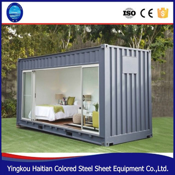 20ft 40ft Shipping Prefabricated Container House With Drop Down Side