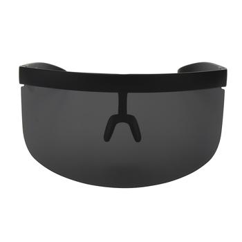 7899aa5c789 Vintage Extra Oversize Shield Visor Sunglasses Women Flat Top Mask Mirrored  Shades Men Windproof Eyewear UV400. View larger image