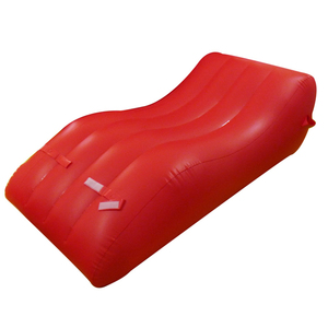 Bedroom furniture set S shape red inflatable sofa bed