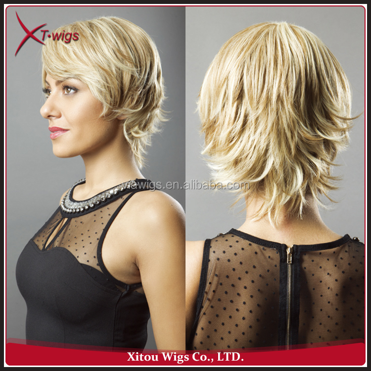 Factory Wholesale Short Hair Wig Synthetic Hair Weave Wigs