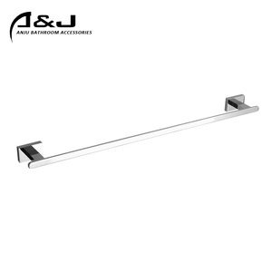 News Square Bathroom Accessories Zinc Alloy Chrome Single Towel RailTowel Bar