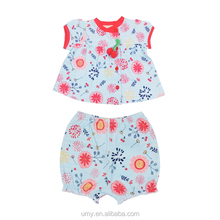 Summer Little Baby Girl Childrens Boutique Clothing Sets Matching Clothes 2 Piece Outfit