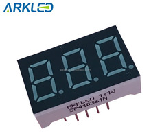 0.36 inch 3 digit blauwe led digit 7 segment