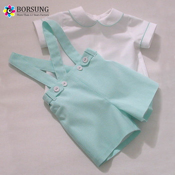 Elegant Custom Cotton Strips Overalls Kids Clothes Elegant Baby Boys  Matching Clothing Sets 6c2eea7da7