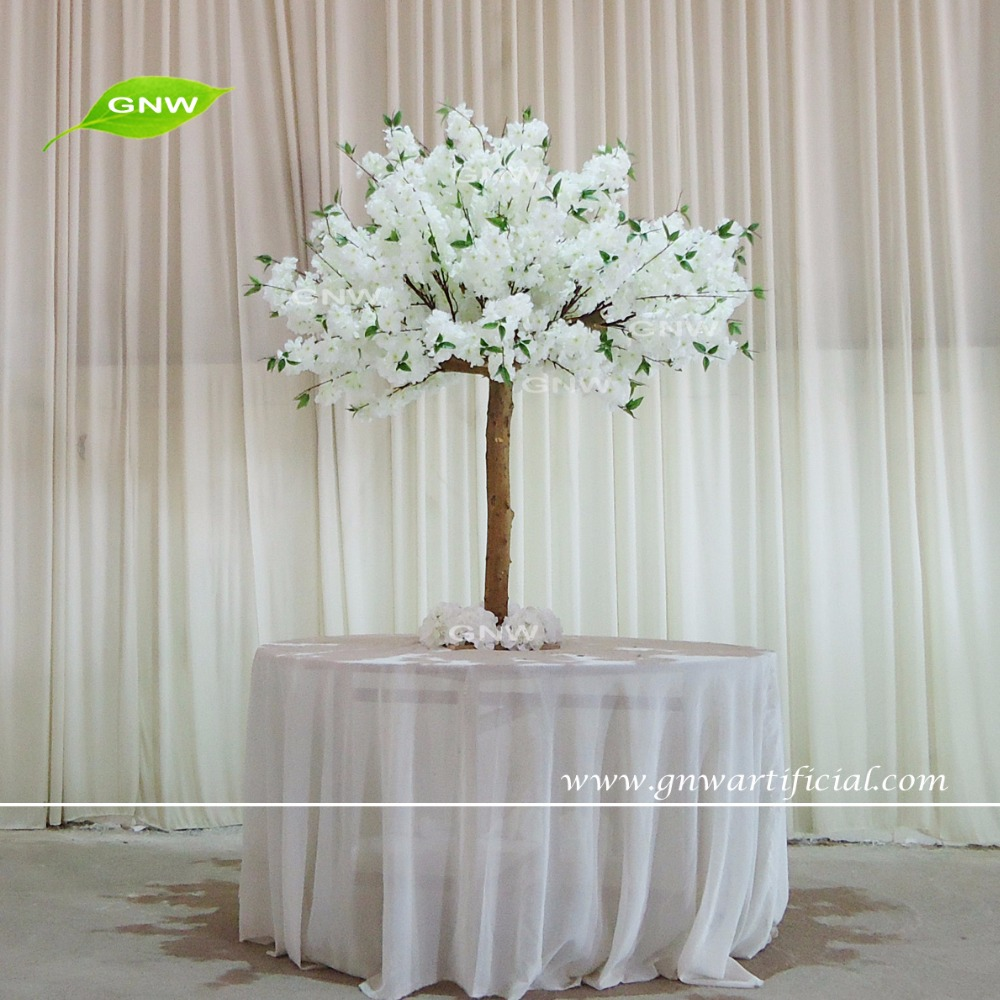 Gnw Latest Design Artificial Cherry Blossom Table Tree Tall Table ...