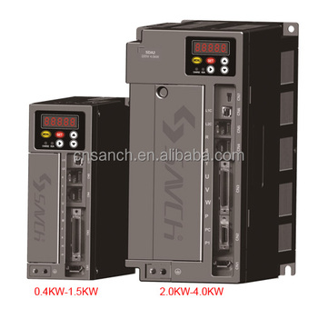 high accuracy single/three phase 0.4kw-7.5kw ac servo motor with drive