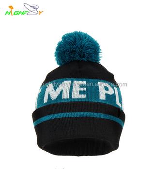bad710d8227 Wholesale Kniting Stripe Bobble Hat custom Beanie Hat