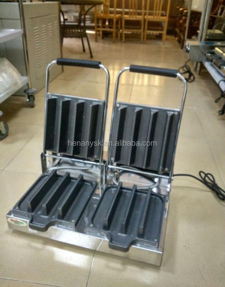 Commerical Industrial 6 8 Slice Grill Breakfast Ice Cream Sandwich Waffle Baker Maker Machine