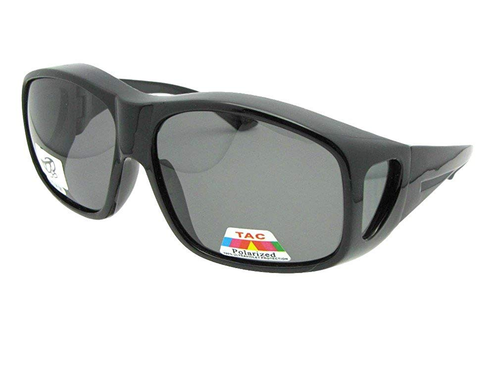 cbe03794a92 Get Quotations · Largest Polarized Fit Over Sunglasses Worn Over  Prescription Glasses Style F19