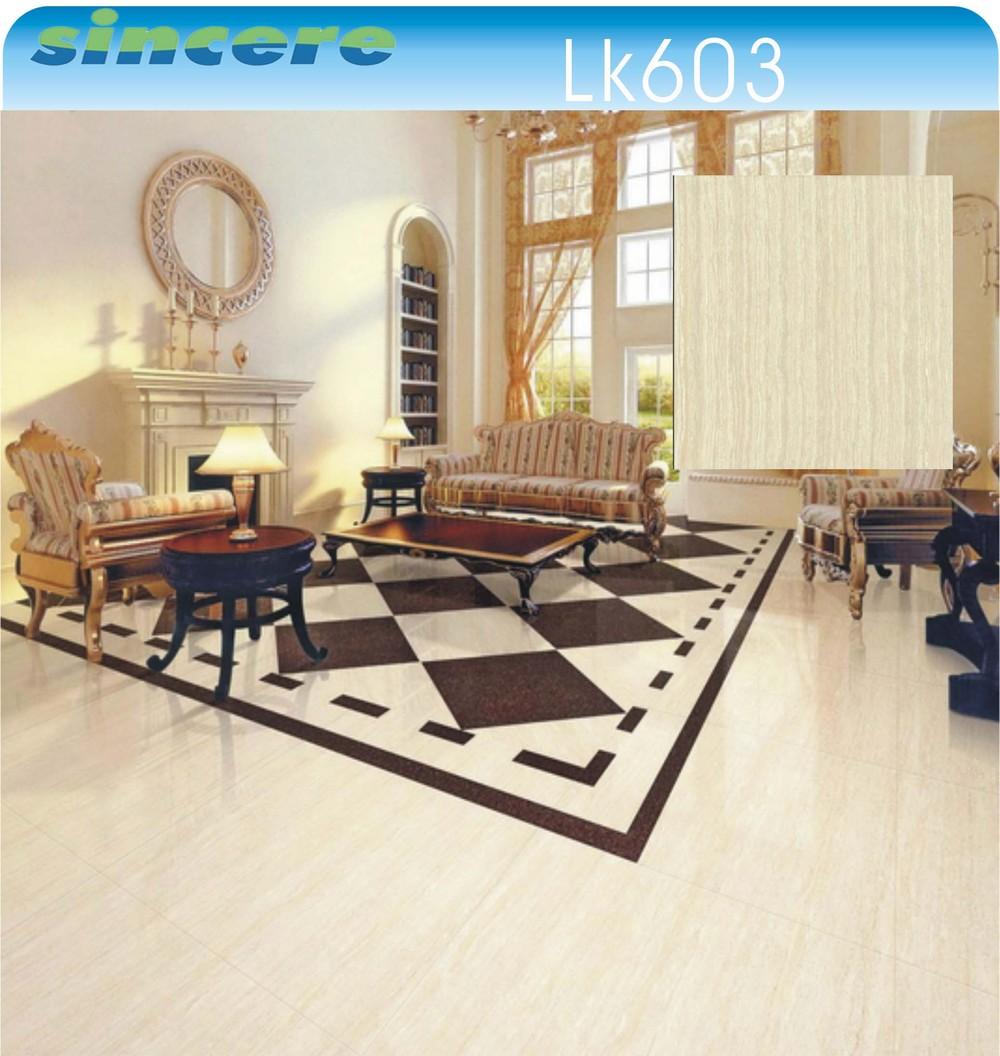 Dining Room Elegant Polished Light Color Kerala Floor Tiles